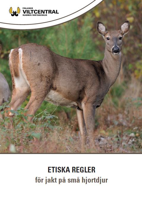Etiska regler för jakt på små hjortdjur broschyr