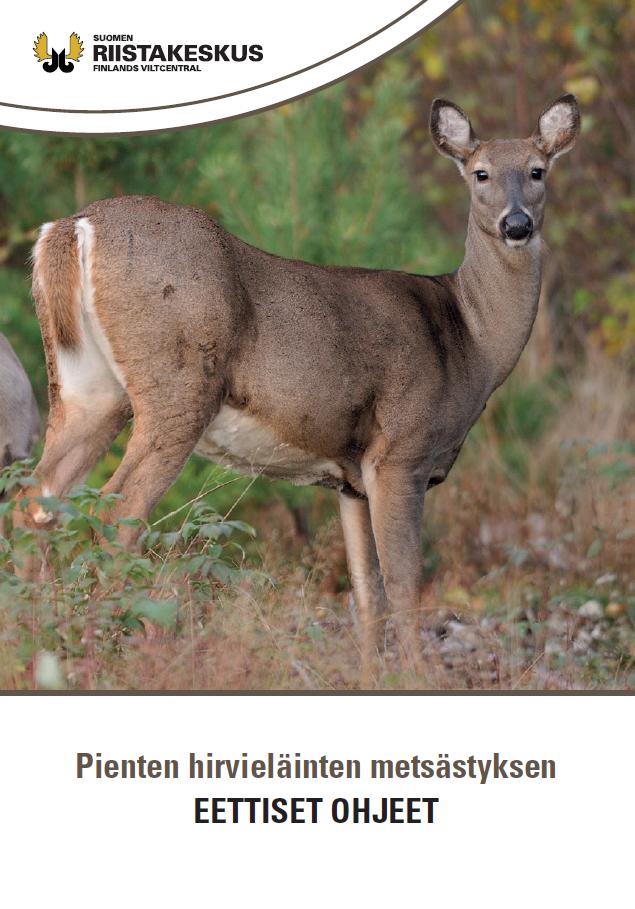 Pienten hirvieläinten metsästyksen eettiset ohjeet -esite