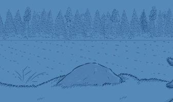 Piirroskuva metsästysporukan käskynjaosta