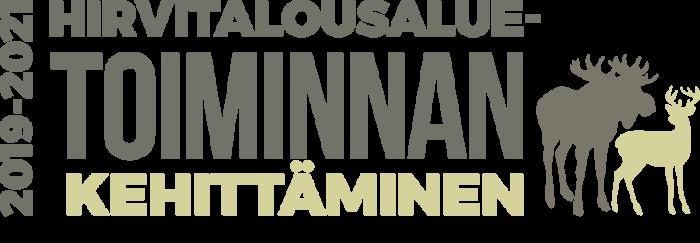 Hirvitalousaluetoiminnan kehittäminen -hankkeen logo.