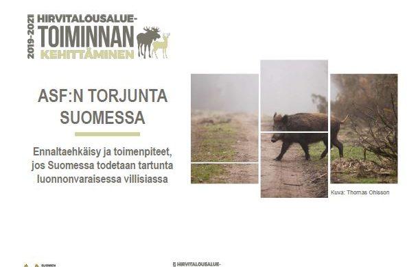 Afrikkalaisen sikaruton torjunta Suomessa -diaesityksen kansikuva